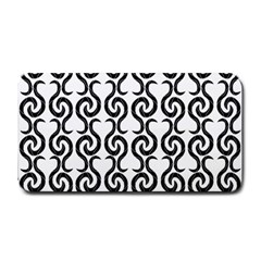 White and black elegant pattern Medium Bar Mats
