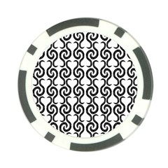 White and black elegant pattern Poker Chip Card Guards
