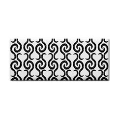 White and black elegant pattern Hand Towel