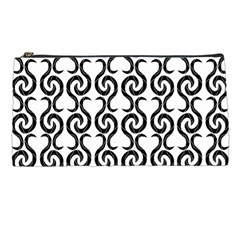 White and black elegant pattern Pencil Cases