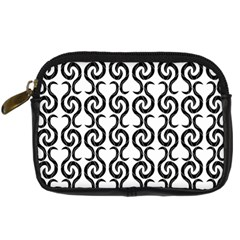 White and black elegant pattern Digital Camera Cases