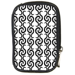 White and black elegant pattern Compact Camera Cases