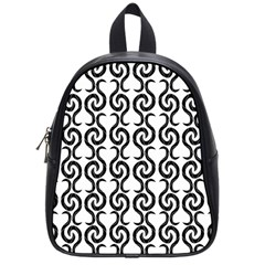 White and black elegant pattern School Bags (Small)