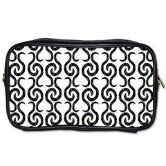 White and black elegant pattern Toiletries Bags 2-Side