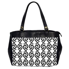 White and black elegant pattern Office Handbags (2 Sides)