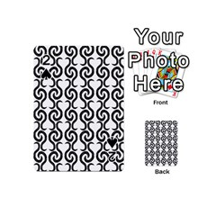 White and black elegant pattern Playing Cards 54 (Mini)