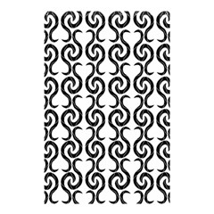 White and black elegant pattern Shower Curtain 48  x 72  (Small)