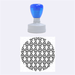 White and black elegant pattern Rubber Round Stamps (Medium)