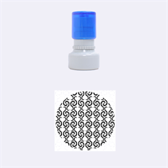 White and black elegant pattern Rubber Round Stamps (Small)