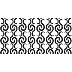 White and black elegant pattern YOU ARE INVITED 3D Greeting Card (8x4)