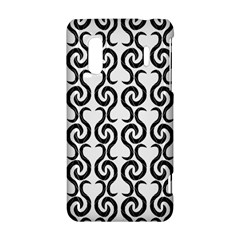 White and black elegant pattern HTC Evo Design 4G/ Hero S Hardshell Case