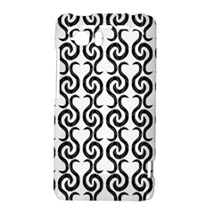 White and black elegant pattern HTC Vivid / Raider 4G Hardshell Case