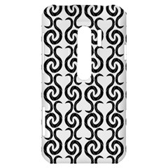 White and black elegant pattern HTC Evo 3D Hardshell Case