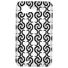 White and black elegant pattern HTC Incredible S Hardshell Case