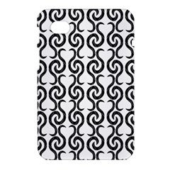 White and black elegant pattern Samsung Galaxy Tab 7  P1000 Hardshell Case