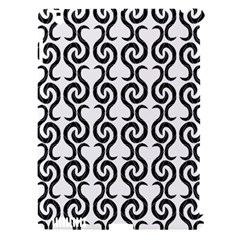 White and black elegant pattern Apple iPad 3/4 Hardshell Case (Compatible with Smart Cover)