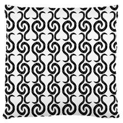 White and black elegant pattern Large Cushion Case (One Side)