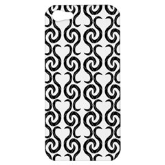 White and black elegant pattern Apple iPhone 5 Hardshell Case