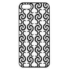 White and black elegant pattern Apple iPhone 5 Seamless Case (Black)