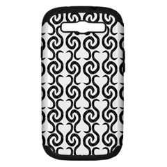 White and black elegant pattern Samsung Galaxy S III Hardshell Case (PC+Silicone)