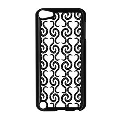 White and black elegant pattern Apple iPod Touch 5 Case (Black)