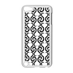 White and black elegant pattern Apple iPod Touch 5 Case (White)