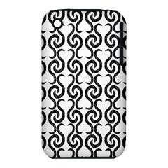 White and black elegant pattern Apple iPhone 3G/3GS Hardshell Case (PC+Silicone)