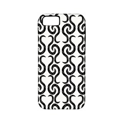 White and black elegant pattern Apple iPhone 5 Classic Hardshell Case (PC+Silicone)