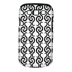 White and black elegant pattern Samsung Galaxy S III Classic Hardshell Case (PC+Silicone)