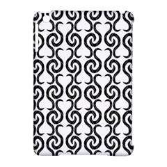 White and black elegant pattern Apple iPad Mini Hardshell Case (Compatible with Smart Cover)