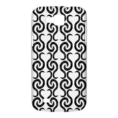White and black elegant pattern Samsung Galaxy Premier I9260 Hardshell Case