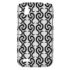 White and black elegant pattern HTC Desire V (T328W) Hardshell Case