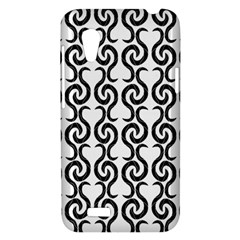 White and black elegant pattern HTC Desire VT (T328T) Hardshell Case