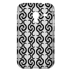 White and black elegant pattern Samsung Galaxy Ace Plus S7500 Hardshell Case