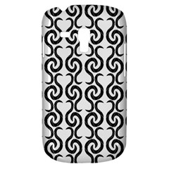 White and black elegant pattern Samsung Galaxy S3 MINI I8190 Hardshell Case