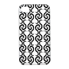 White and black elegant pattern Apple iPhone 4/4S Hardshell Case with Stand