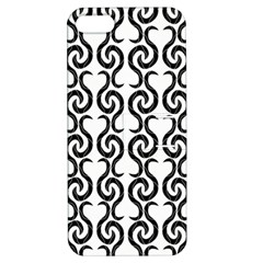 White and black elegant pattern Apple iPhone 5 Hardshell Case with Stand