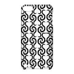 White and black elegant pattern Apple iPod Touch 5 Hardshell Case with Stand