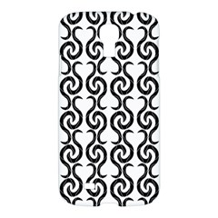 White and black elegant pattern Samsung Galaxy S4 I9500/I9505 Hardshell Case