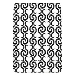 White and black elegant pattern Flap Covers (L)