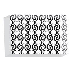 White and black elegant pattern 4 x 6  Acrylic Photo Blocks