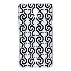 White and black elegant pattern Sony Xperia T