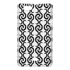 White and black elegant pattern Sony Xperia Miro