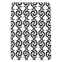 White and black elegant pattern Flap Covers (S)