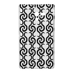 White and black elegant pattern Sony Xperia ZL (L35H)