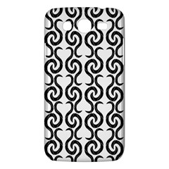 White and black elegant pattern Samsung Galaxy Mega 5.8 I9152 Hardshell Case