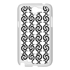White and black elegant pattern Samsung Galaxy Note 2 Case (White)
