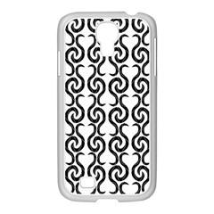 White and black elegant pattern Samsung GALAXY S4 I9500/ I9505 Case (White)