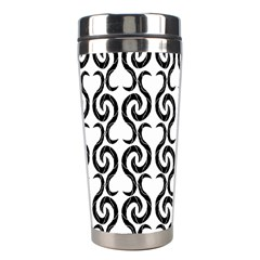 White and black elegant pattern Stainless Steel Travel Tumblers