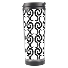 White and black elegant pattern Travel Tumbler